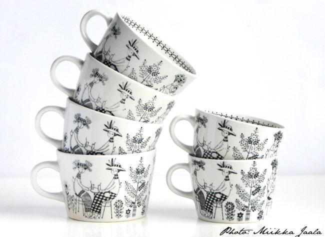 Arabia Emilia -kahvikuppi, malli BA 2.