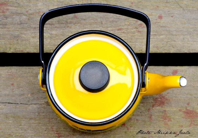 Finel Primavera (Maaret), 0,6 litran kahvipannu ylhäältä kuvattuna.