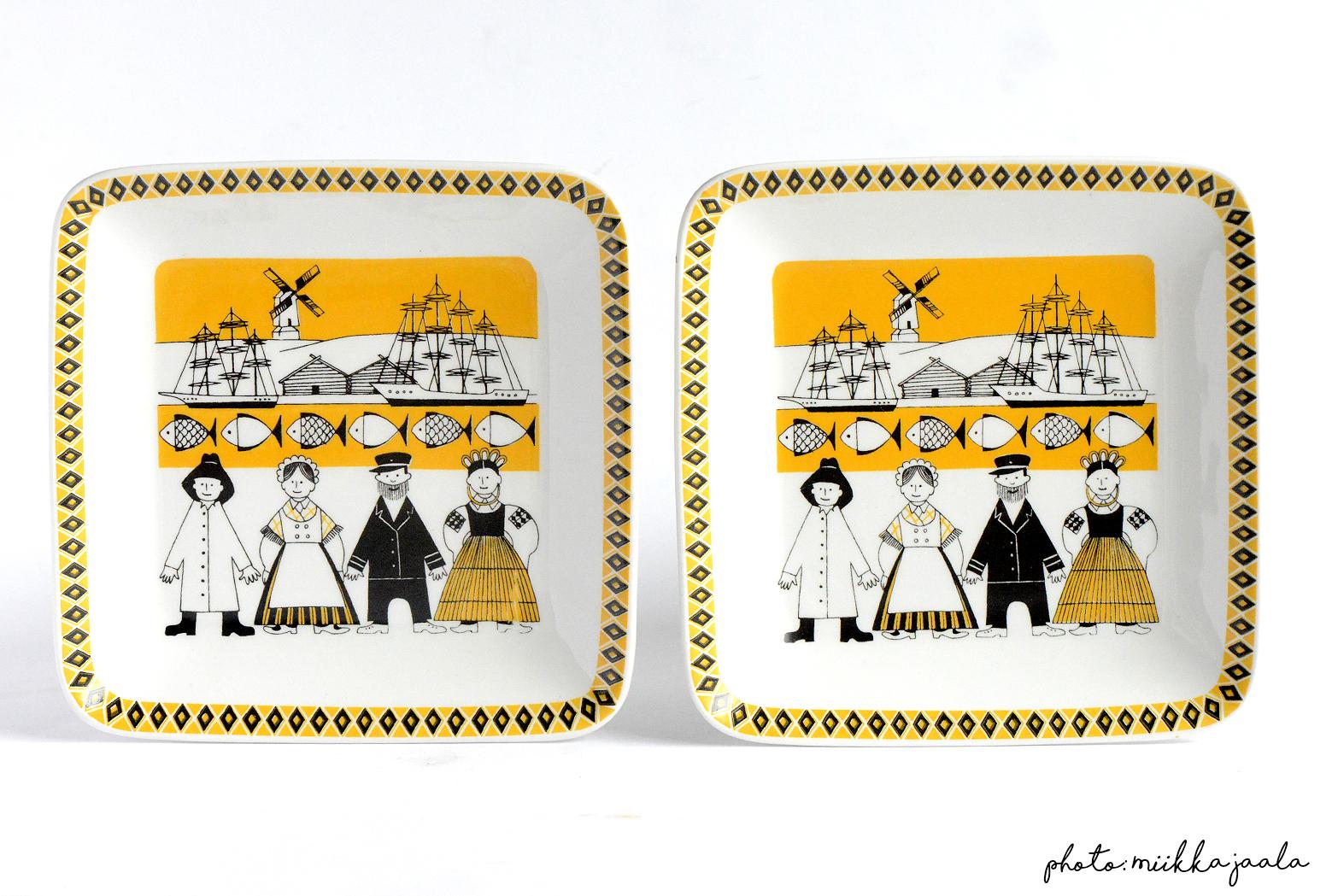 G-mallin Ahvenanmaa -maakuntalautanen kuuluu maakuntia kuvaavaan yhdeksän lautasen sarjaan. Näitä värikkäitä lautasia muistuttaa myös Kymarno-yhtiölle tehdyt neljä vuodenaikalautasta. Tyylissä on jälleen Emilia-sarjalle ominainen jälki, sillä  tämäkin sarja kuuluu Raija Uosikkisen töihin.