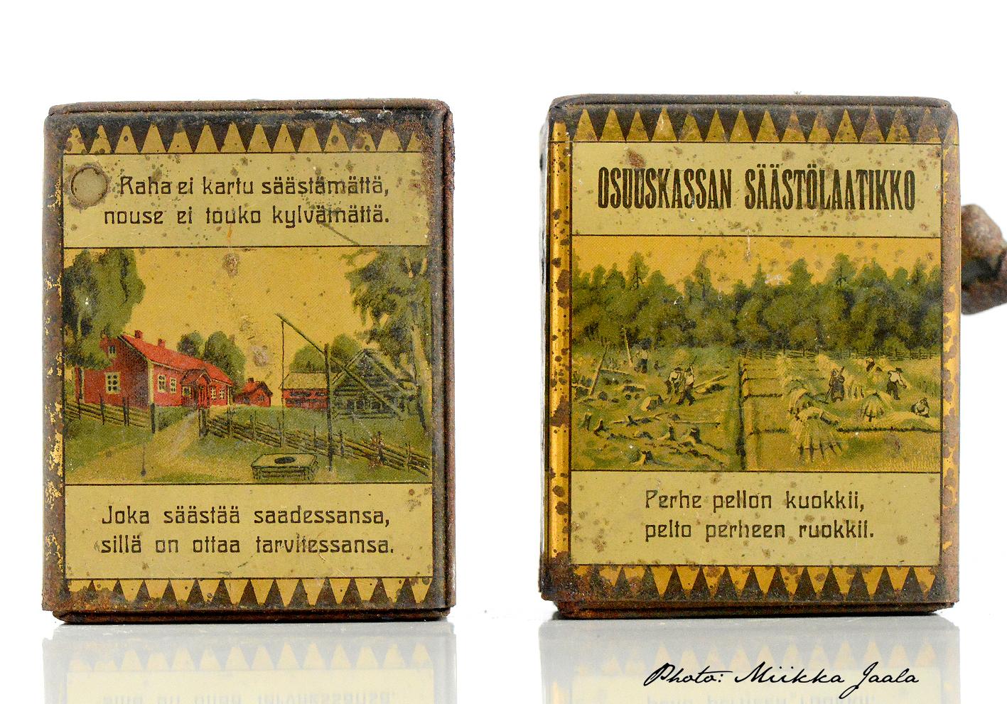 Osuuskassan säästölaatikko – Finnish vintage bank