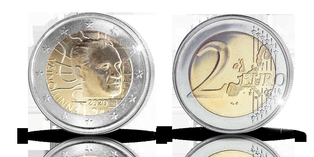 Väinö Linnan satavuotisjuhlan kunniaksi kahden euron erikoisraha marraskuussa 2020